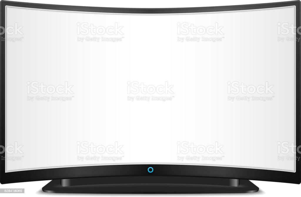 TV with Curved Screen vector art illustration