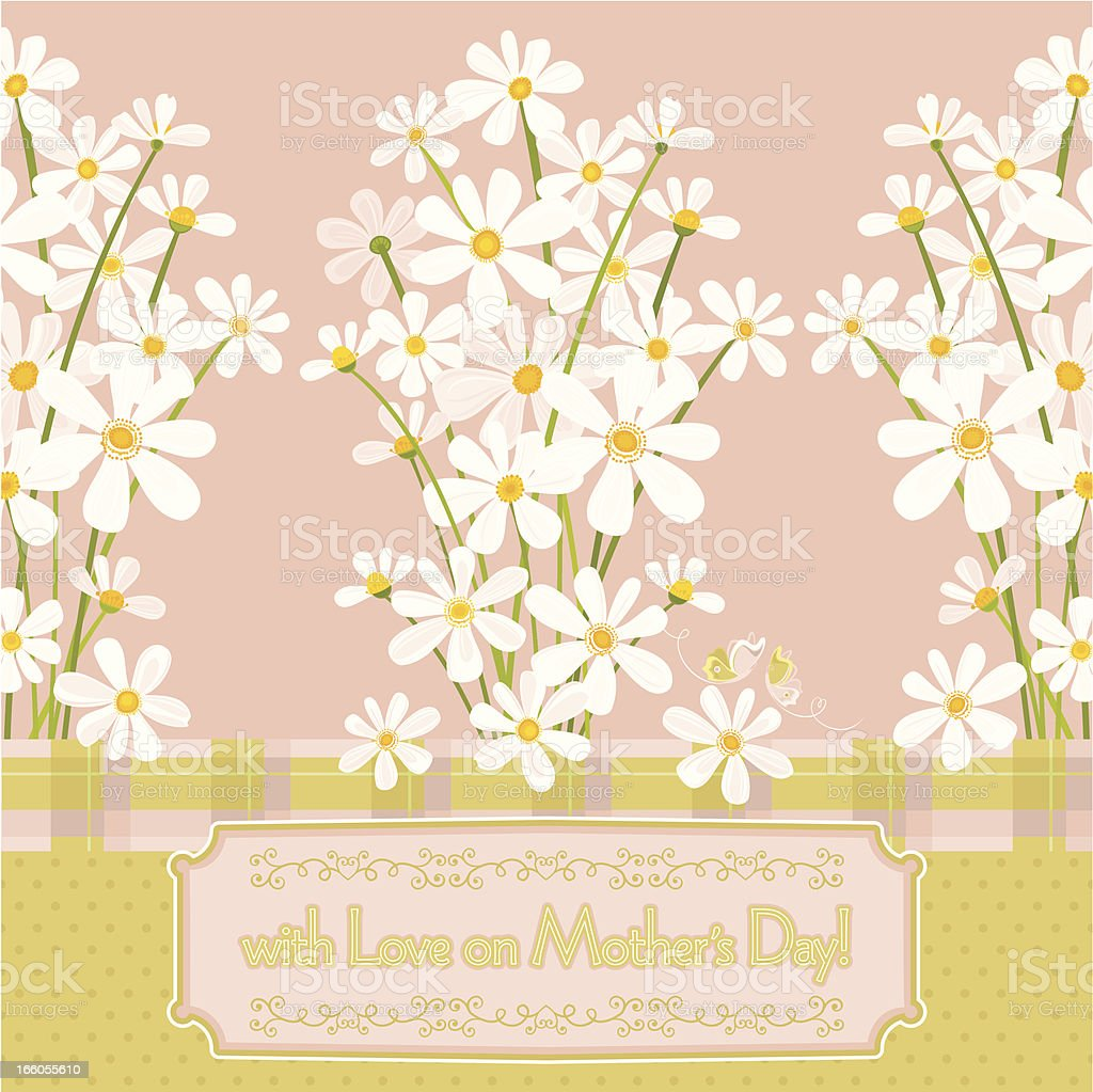 With Love on Mother's Day! (Greeting Card) royalty-free stock vector art
