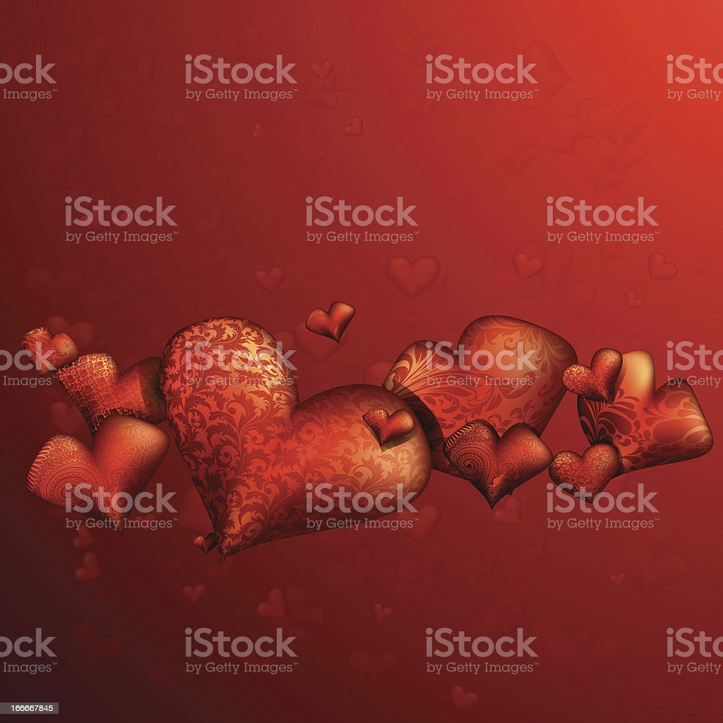 With Love vector art illustration