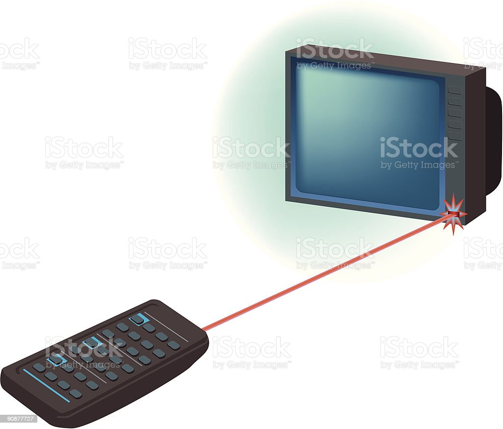 TV with remote royalty-free stock vector art