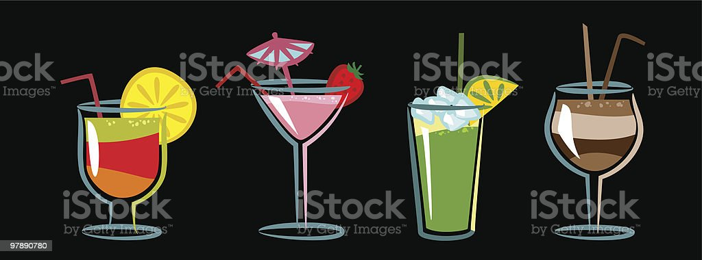 Сocktails royalty-free stock vector art