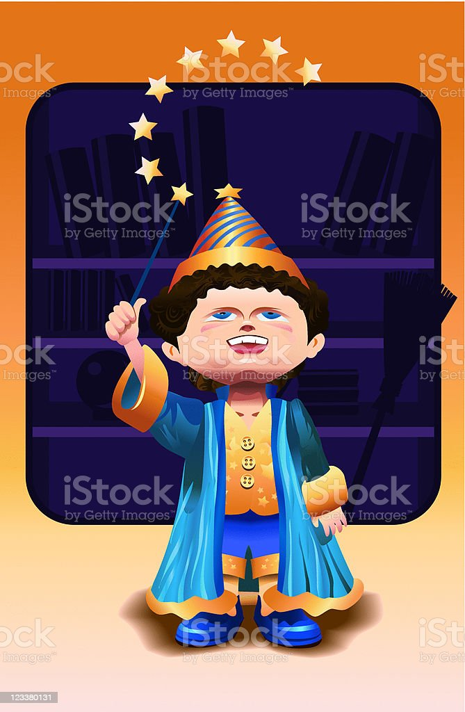 Wizard kid royalty-free stock vector art