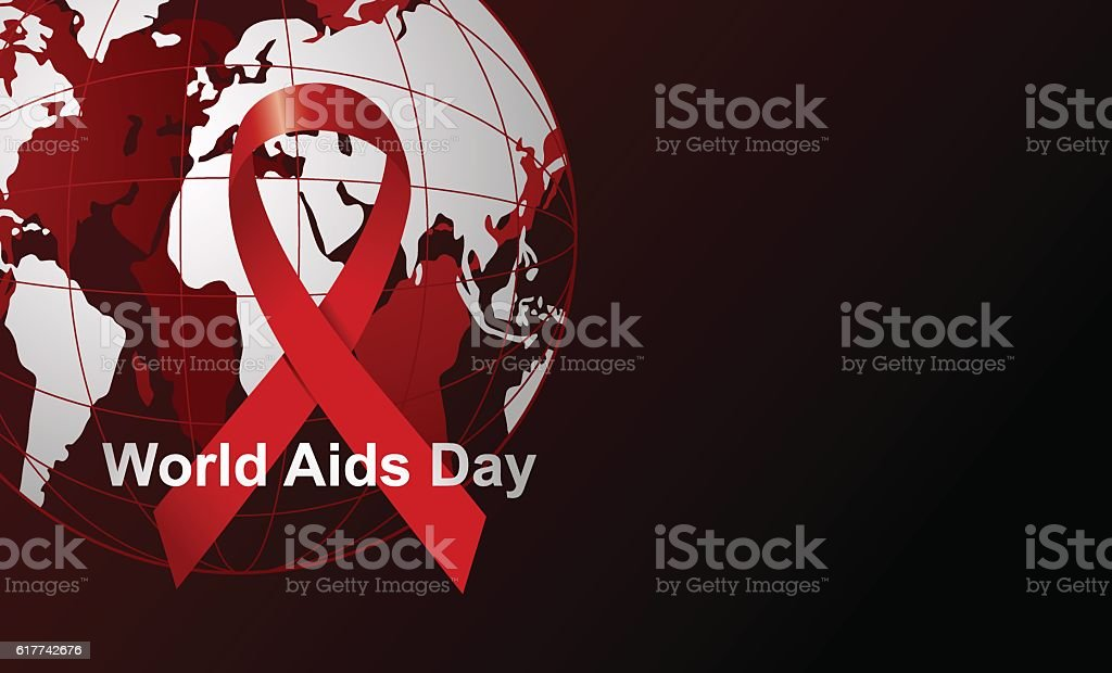 Wold Aids day vector art illustration