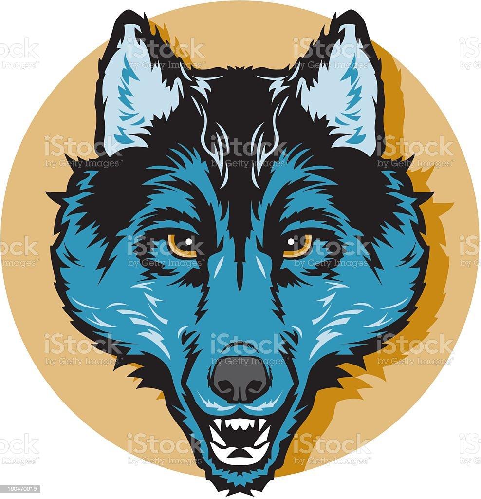 Wolf Head Icon royalty-free stock vector art
