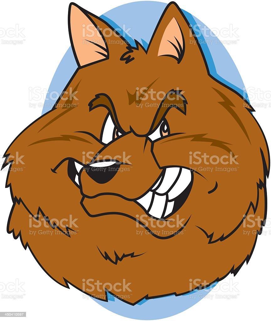 Wolf Head on Blue royalty-free stock vector art