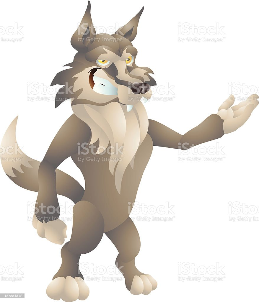 wolf presenting royalty-free stock vector art