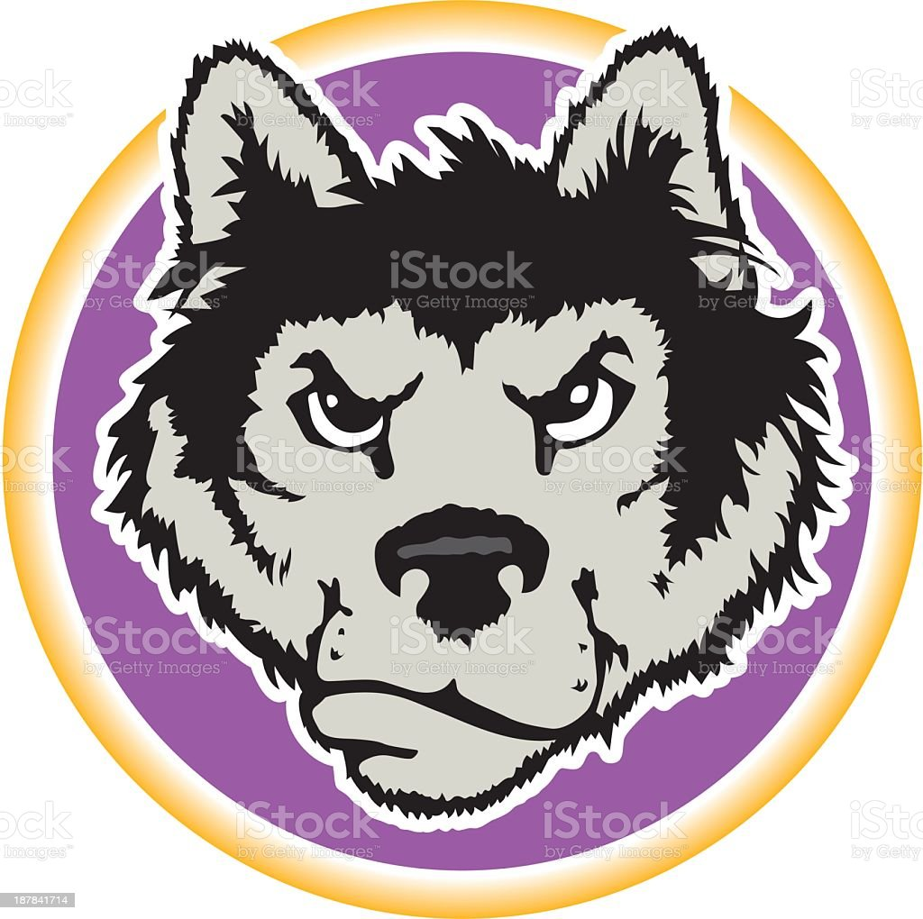 Wolf's Head royalty-free stock vector art