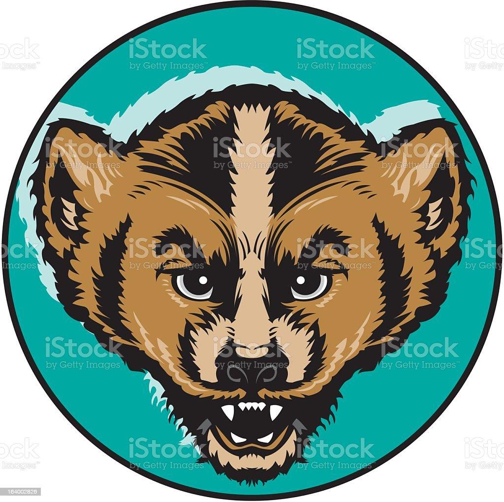 Wolverine royalty-free stock vector art