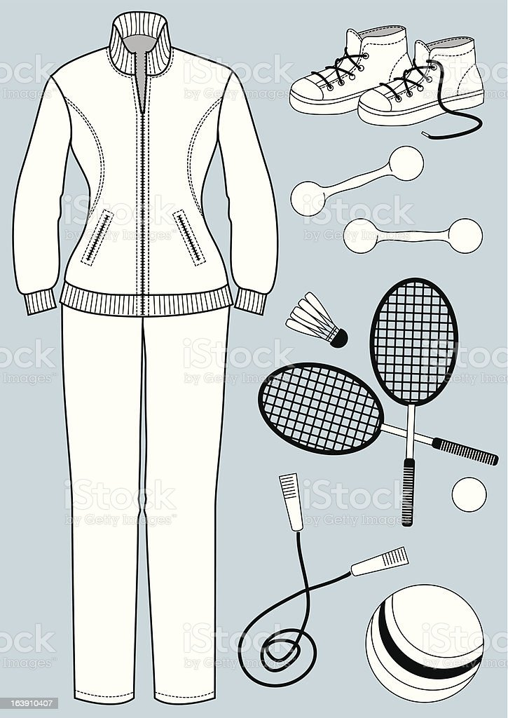 Womamn clothes for sport royalty-free stock vector art