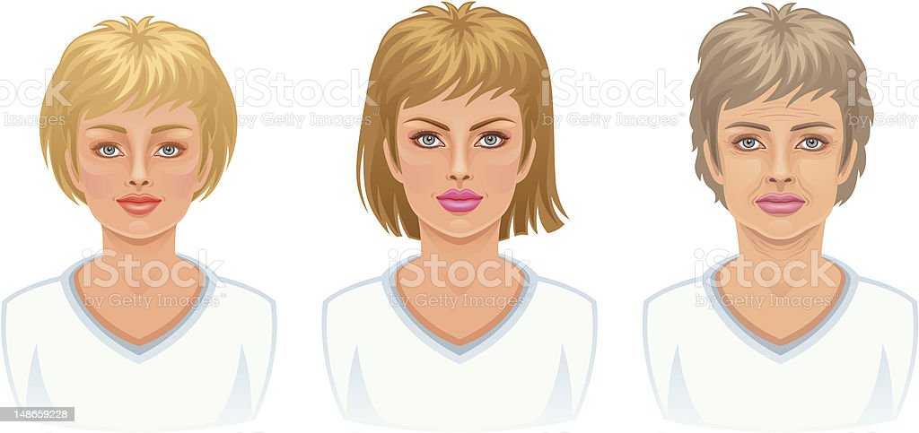 Woman age royalty-free stock vector art