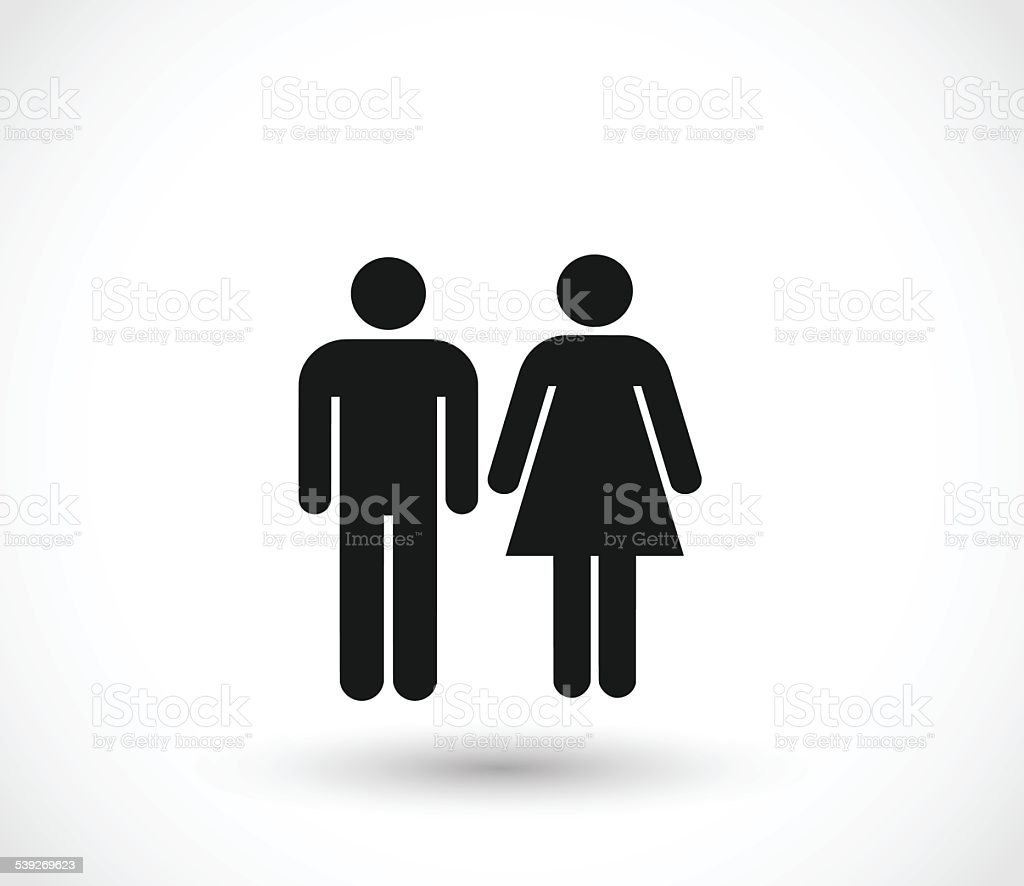 Woman and man icons vector illustration vector art illustration