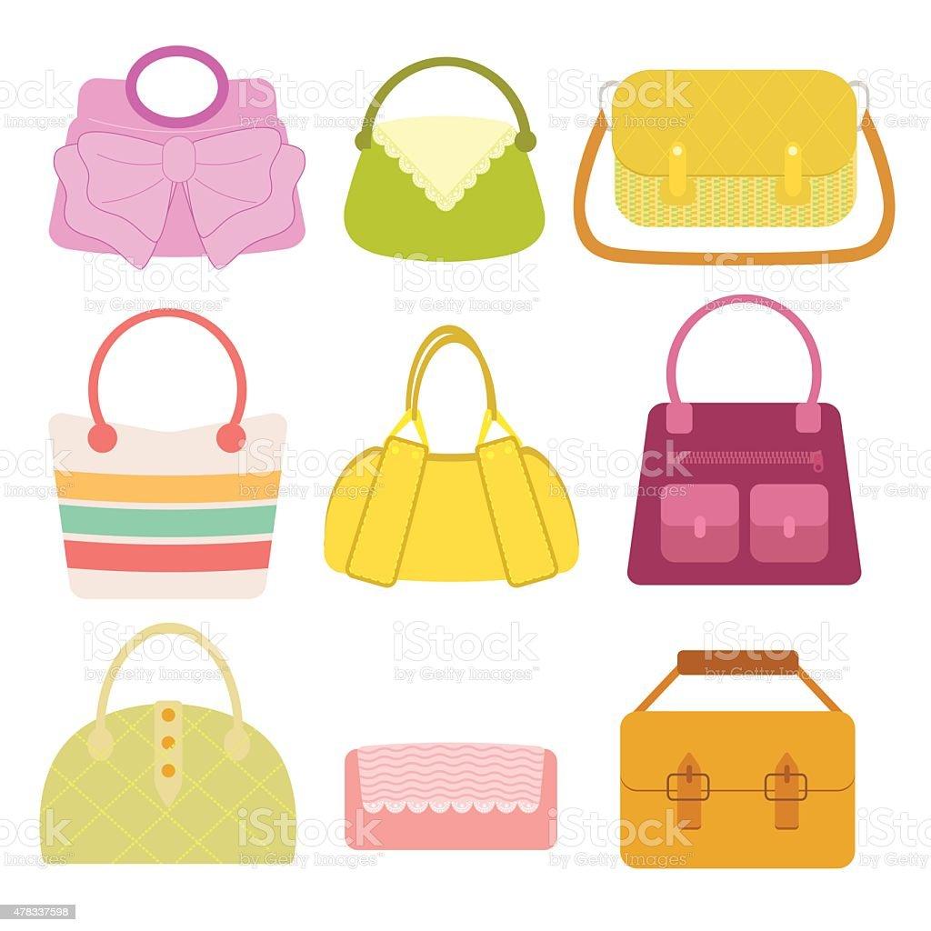 Woman Bag vector art illustration