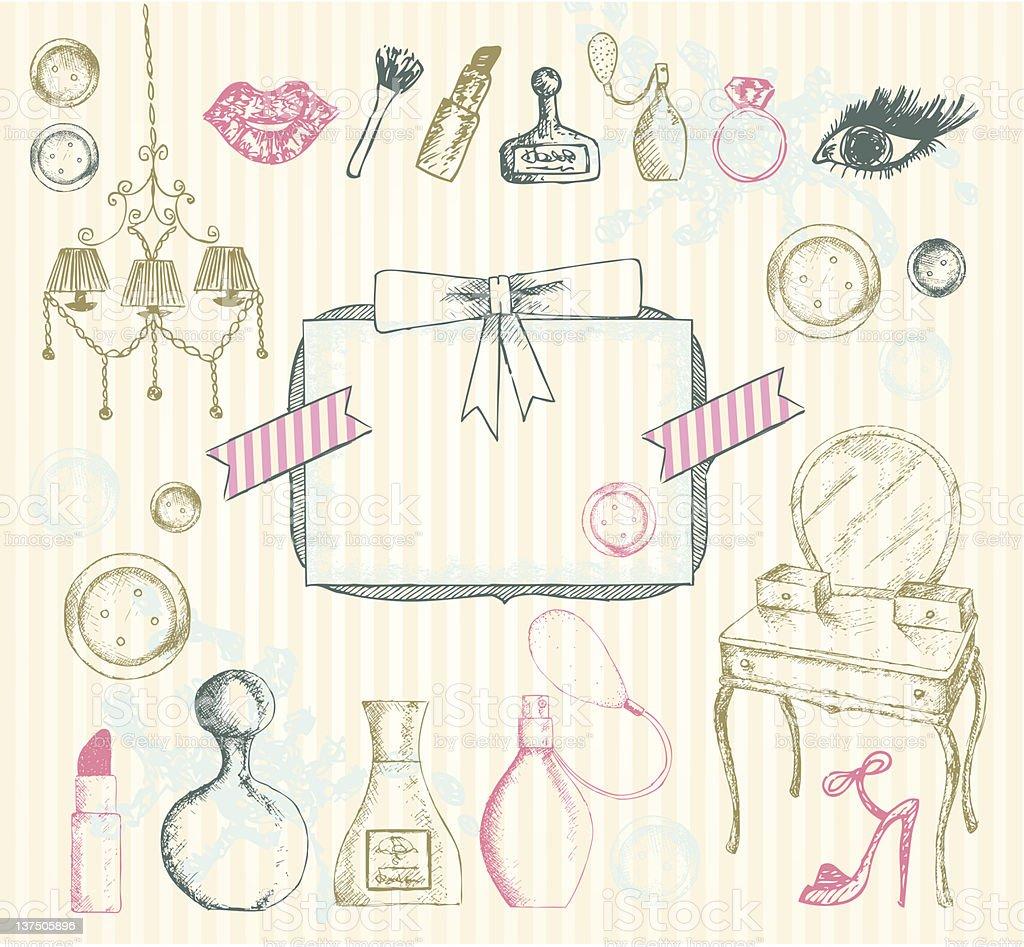 Woman beauty illustration royalty-free stock vector art