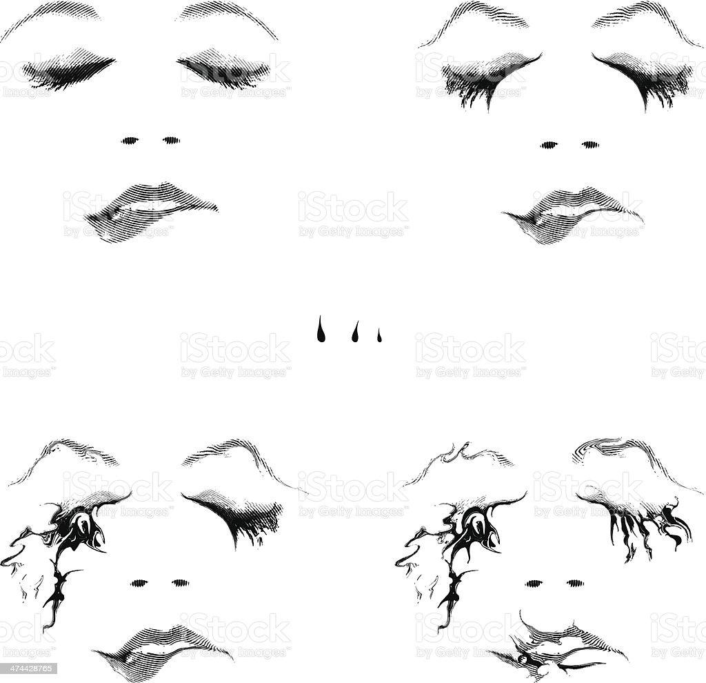 Woman Biting Lip royalty-free stock vector art