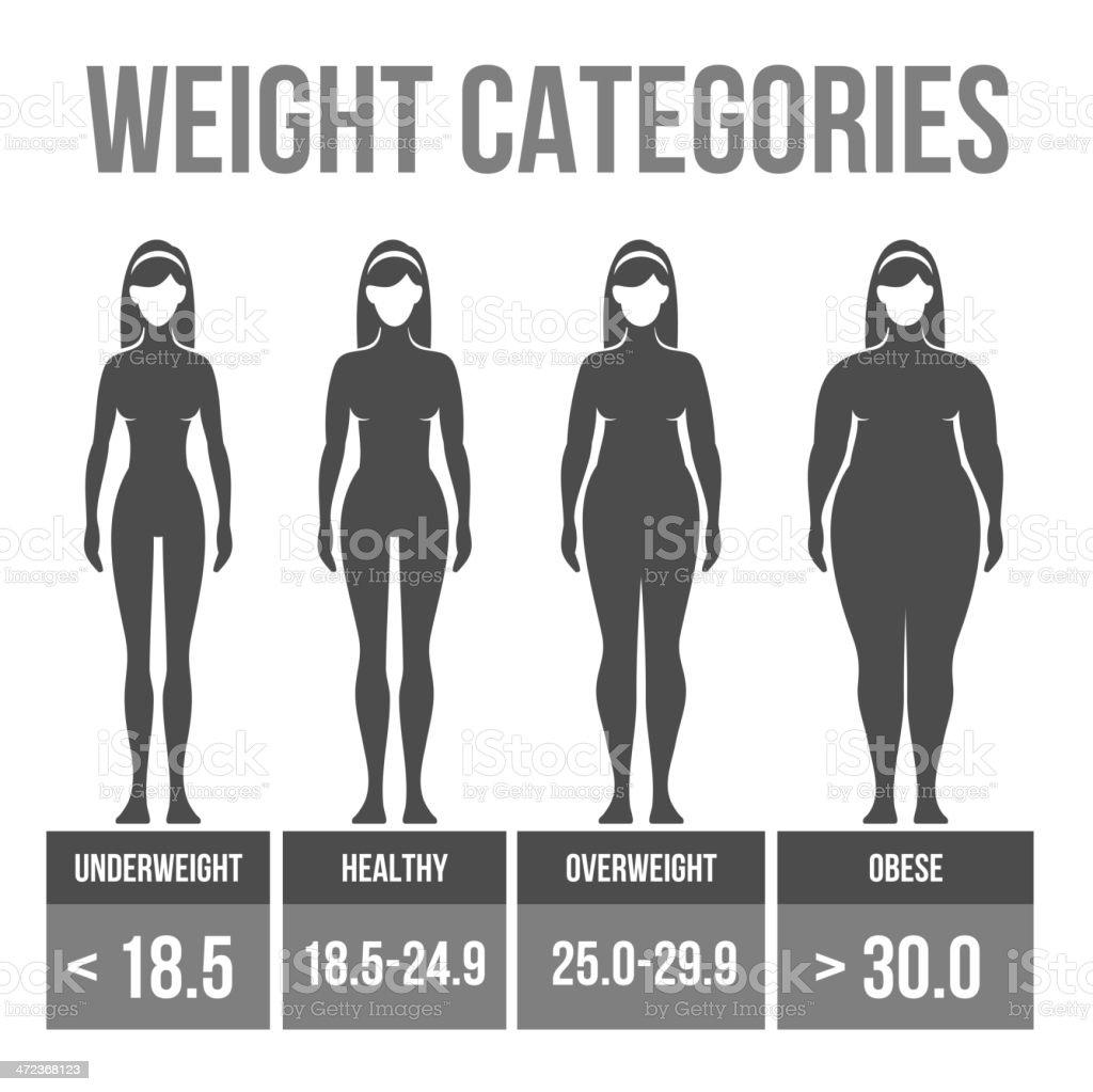 Woman body mass index. royalty-free stock vector art