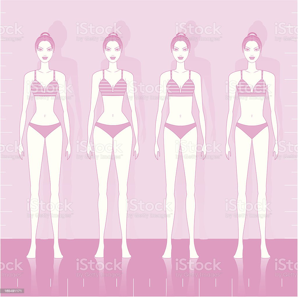 Woman Body Shapes vector art illustration