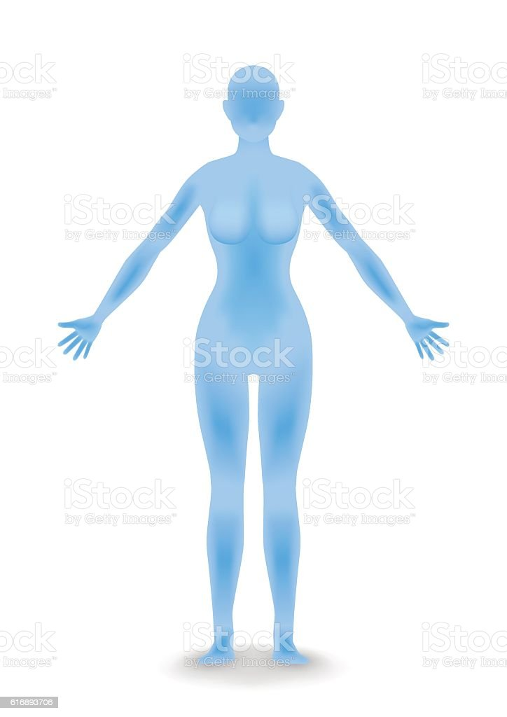 woman body silhouette vector art illustration