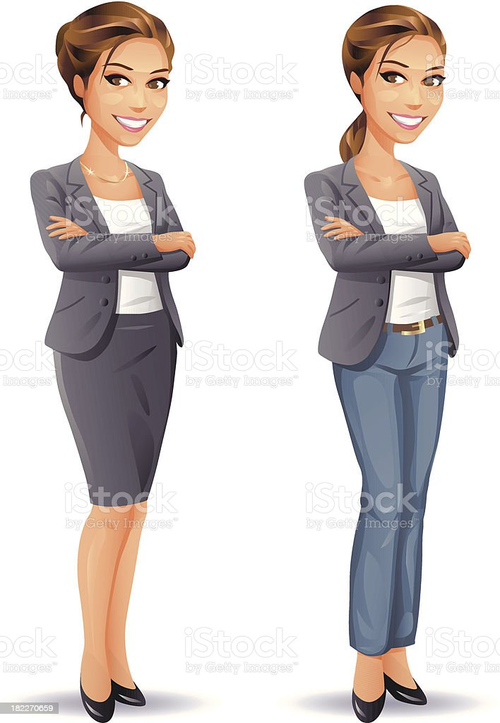 Woman Business and Casual vector art illustration