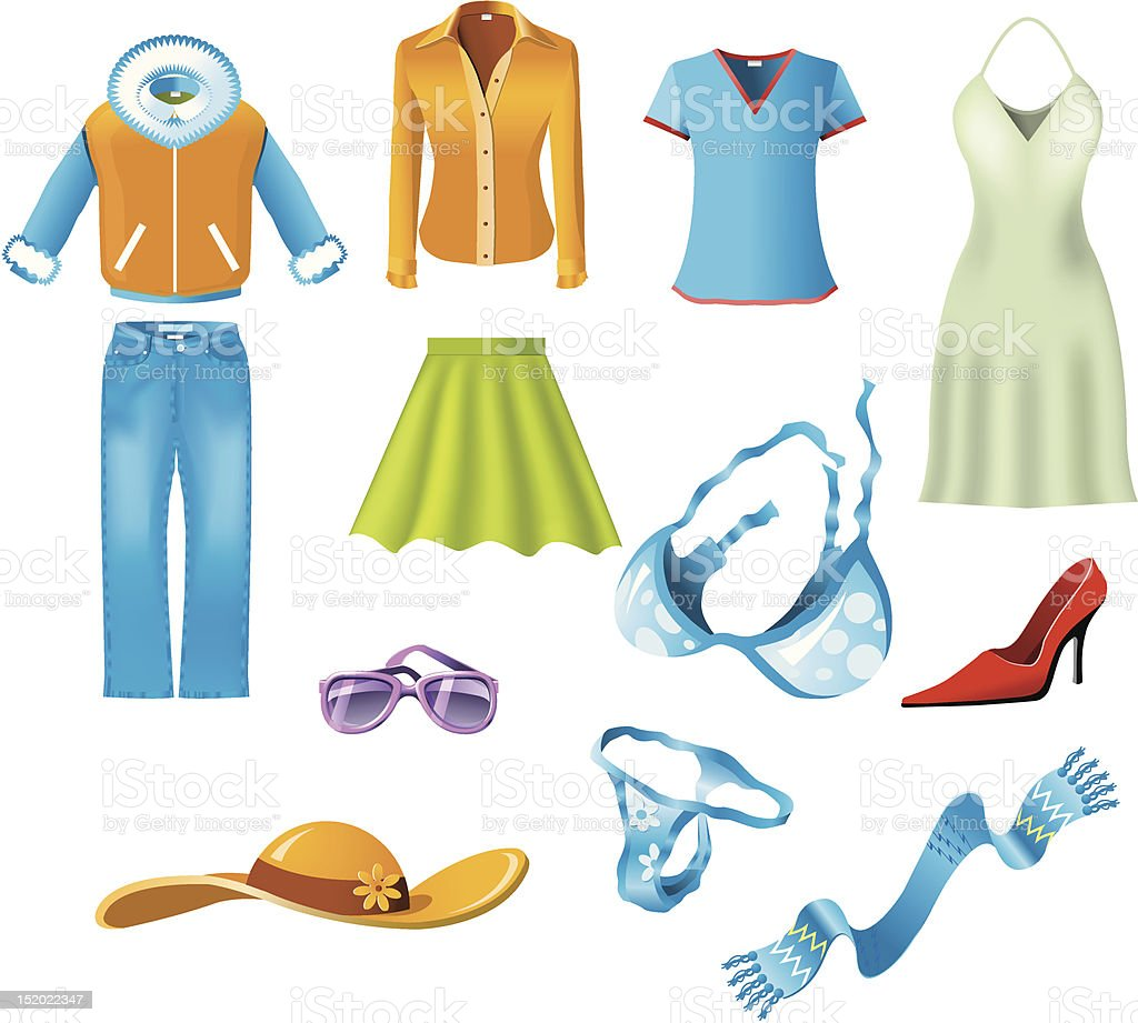 Woman clothes royalty-free stock vector art