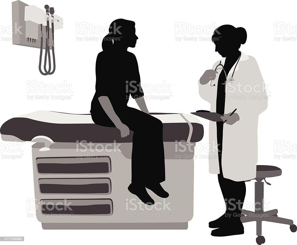 Woman Doctor vector art illustration