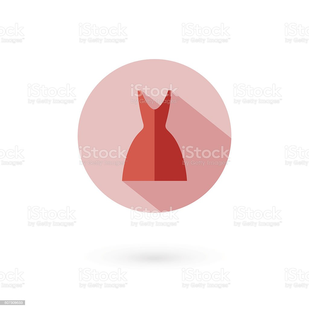 Woman dress icon. vector illustration royalty-free stock vector art
