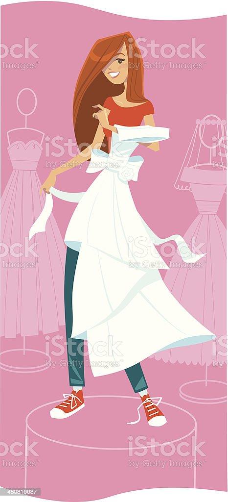 Woman Dress Shop C vector art illustration