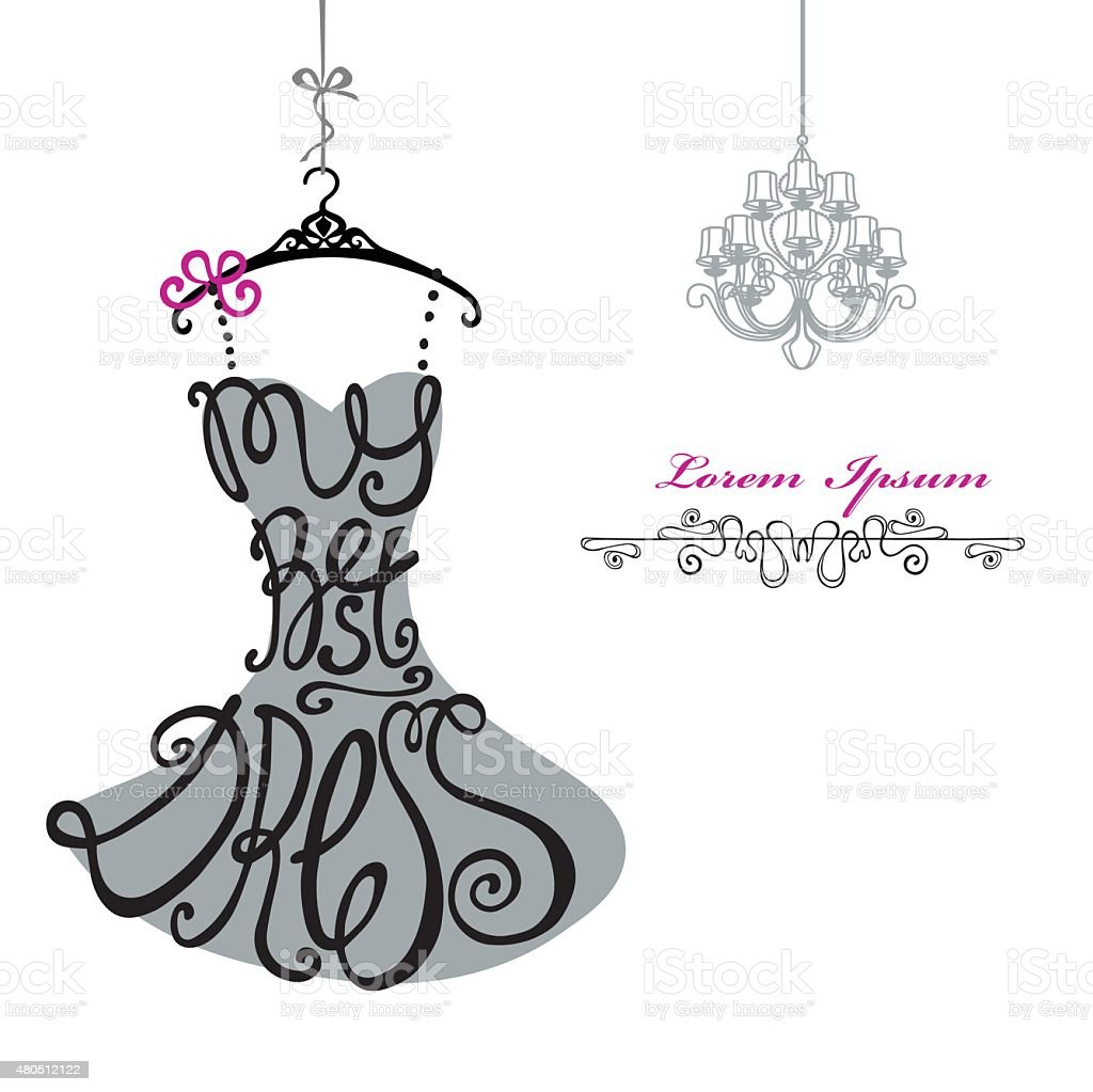 Woman dress silhouettewords best dresschandeliertemplate stock woman dress silhouettewords best dressandeliertemplate royalty free stock vector arubaitofo Image collections