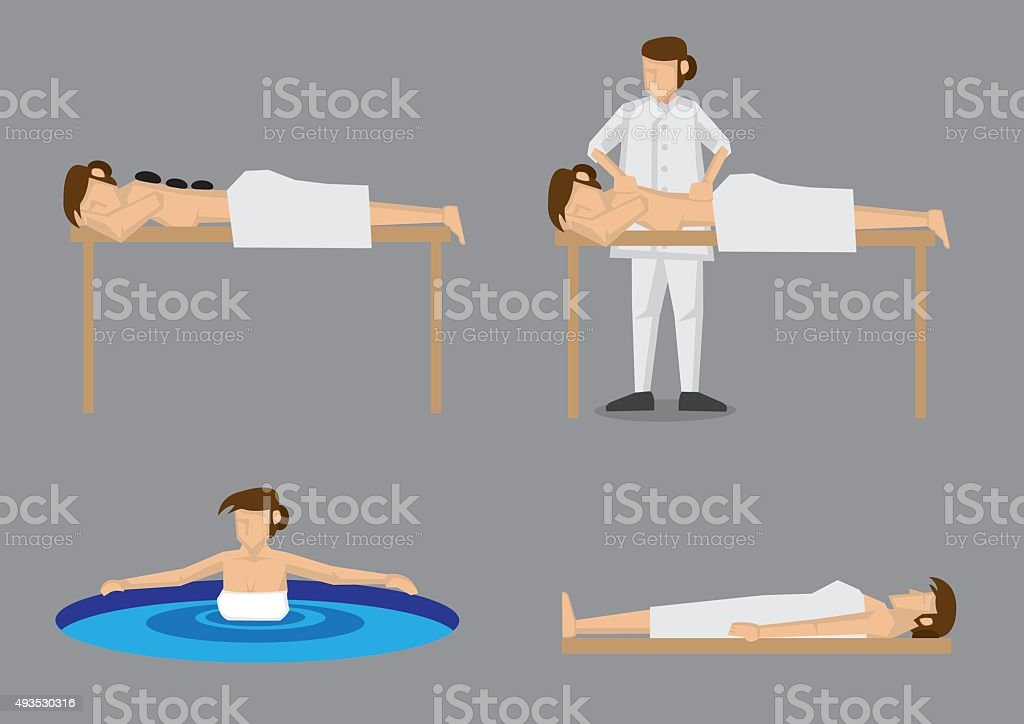Woman Enjoying Spa Vector Illustration vector art illustration