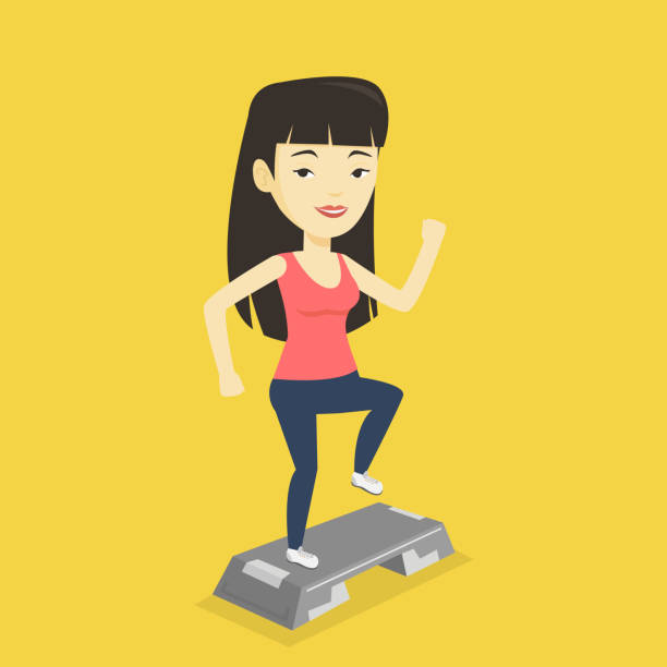 Step Aerobics Clip Art, Vector Images & Illustrations - iStock