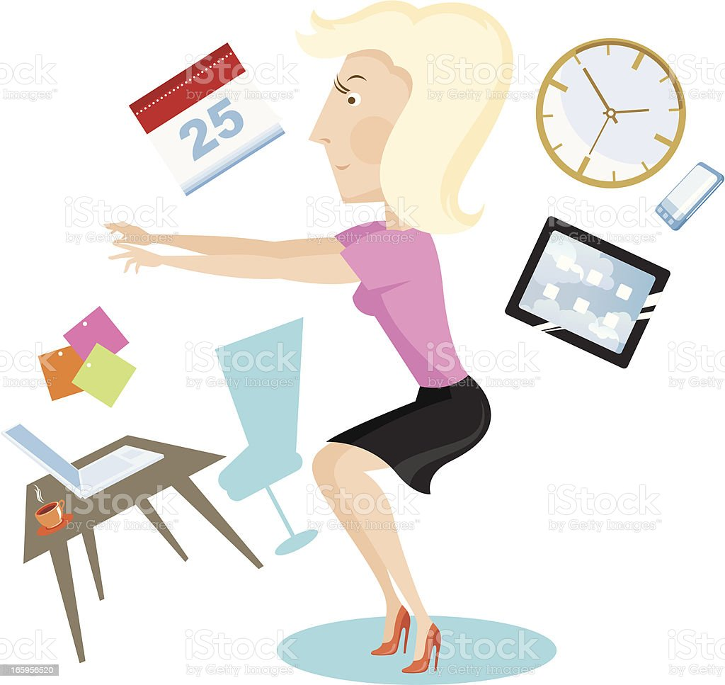 Woman exercising. royalty-free stock vector art