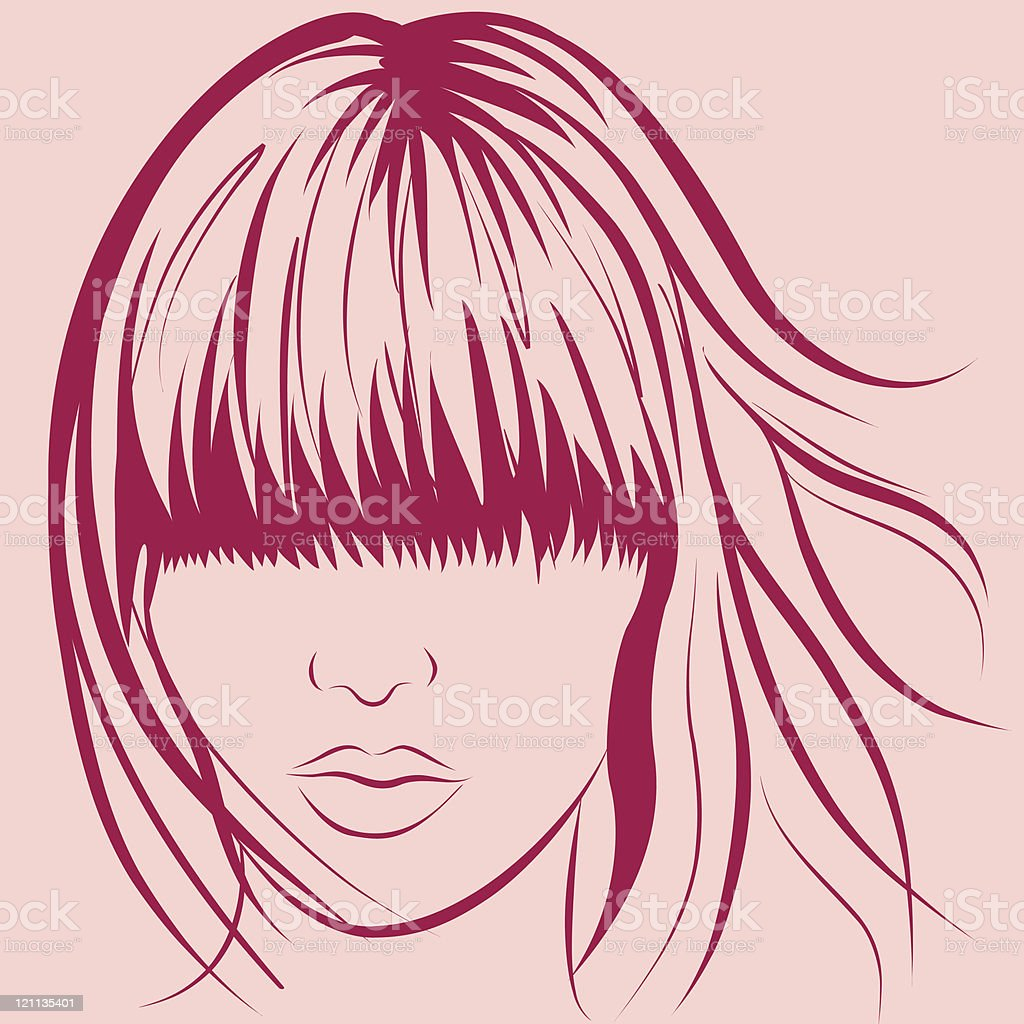 woman face royalty-free stock vector art