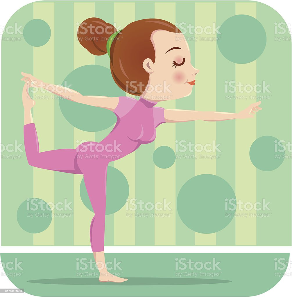 Woman fitness royalty-free stock vector art