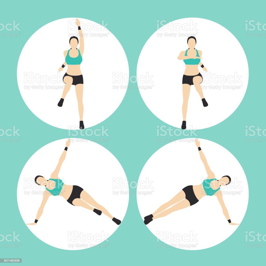 Woman Fitness Vector royalty-free stock vector art