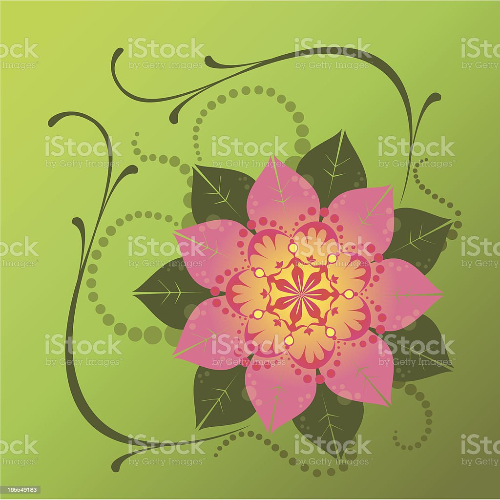 Woman Flower royalty-free stock vector art