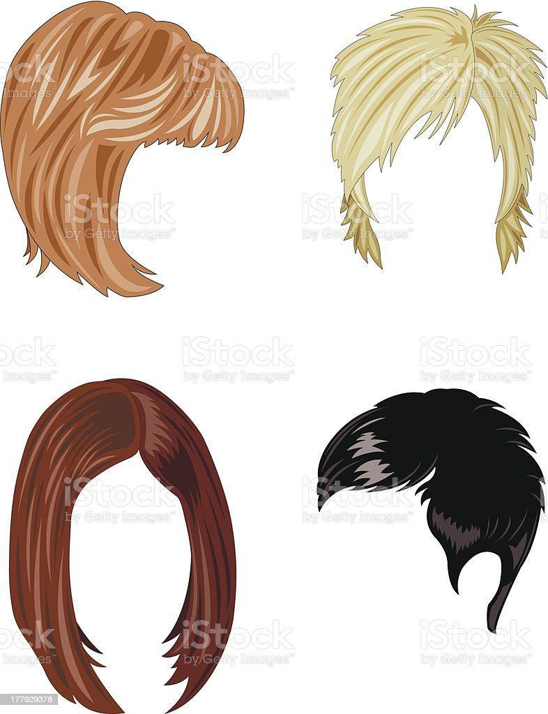 woman hair vector art illustration
