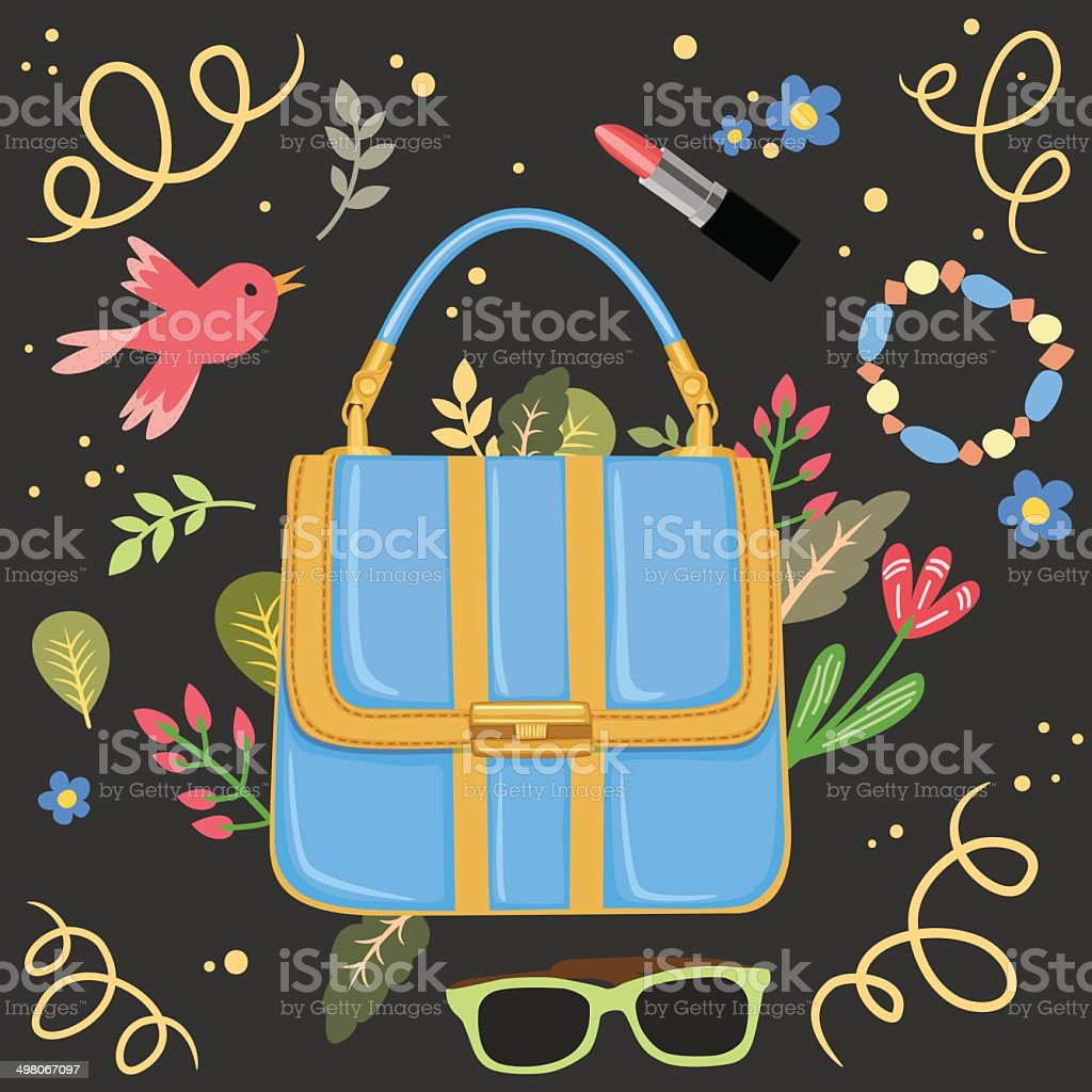 Woman handbag background vector royalty-free stock vector art