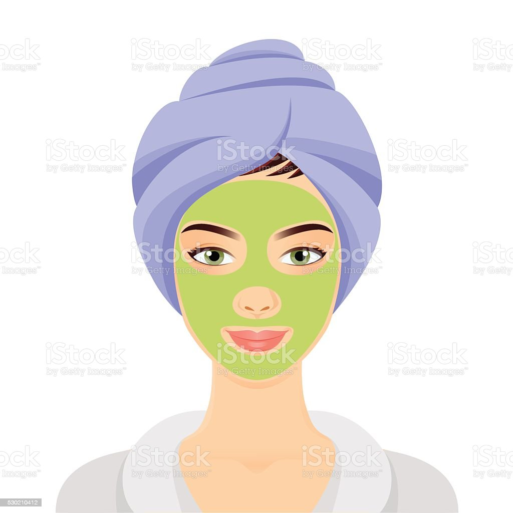 Woman in a Spa vector art illustration