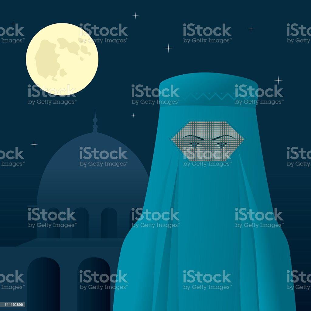 Woman in burka royalty-free stock vector art