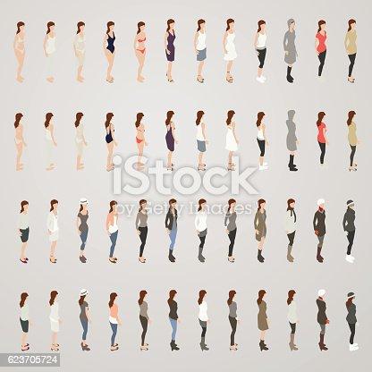 Line sheet women's clothing