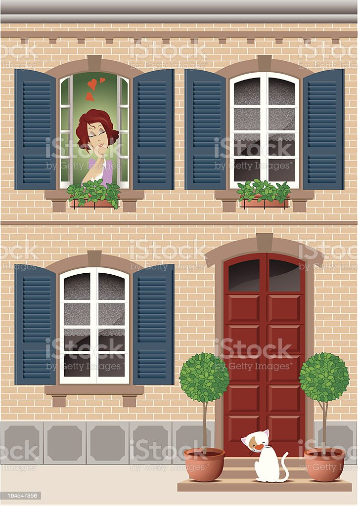 woman in love royalty-free stock vector art