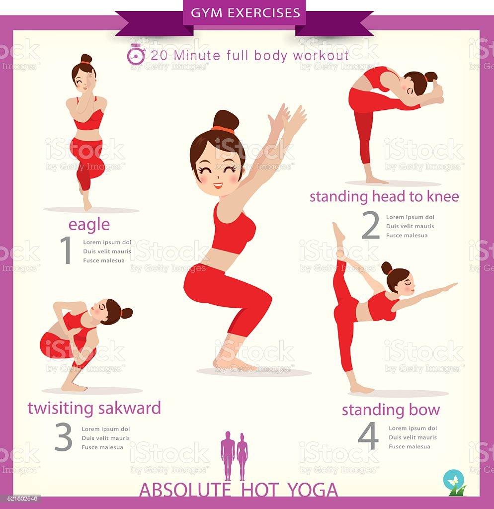 Woman in pose practicing yoga.vector illustration vector art illustration