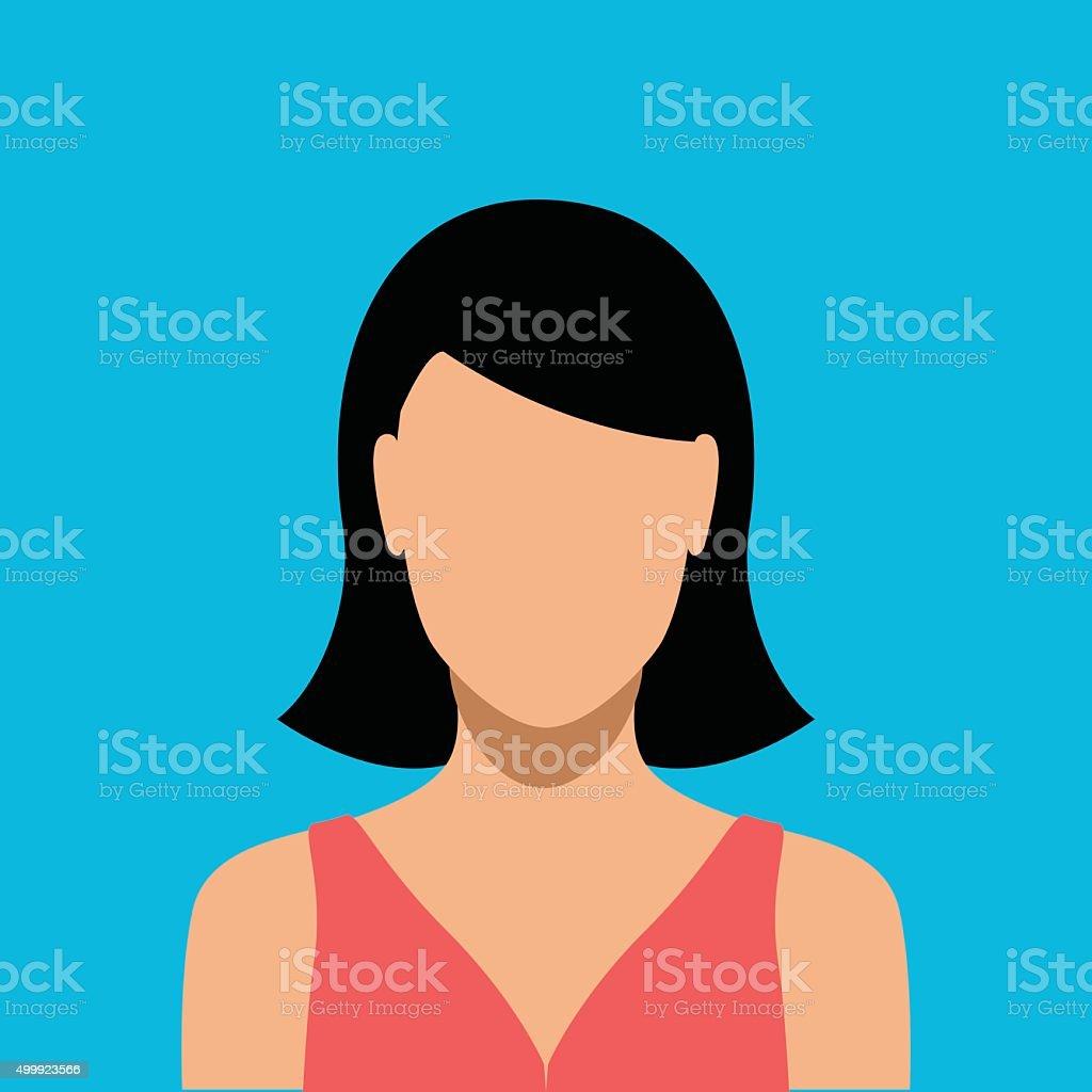 Woman interface icon - VECTOR vector art illustration