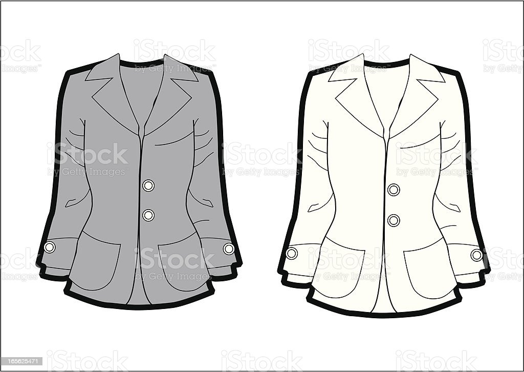 woman jacket royalty-free stock vector art