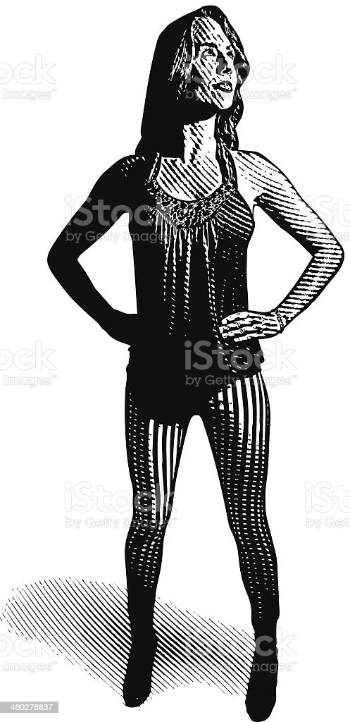 Woman Looking For Direction royalty-free stock vector art