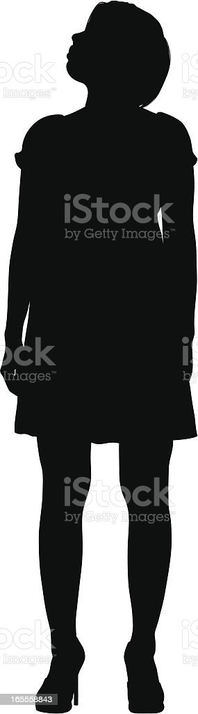 Woman Looking Up royalty-free stock vector art