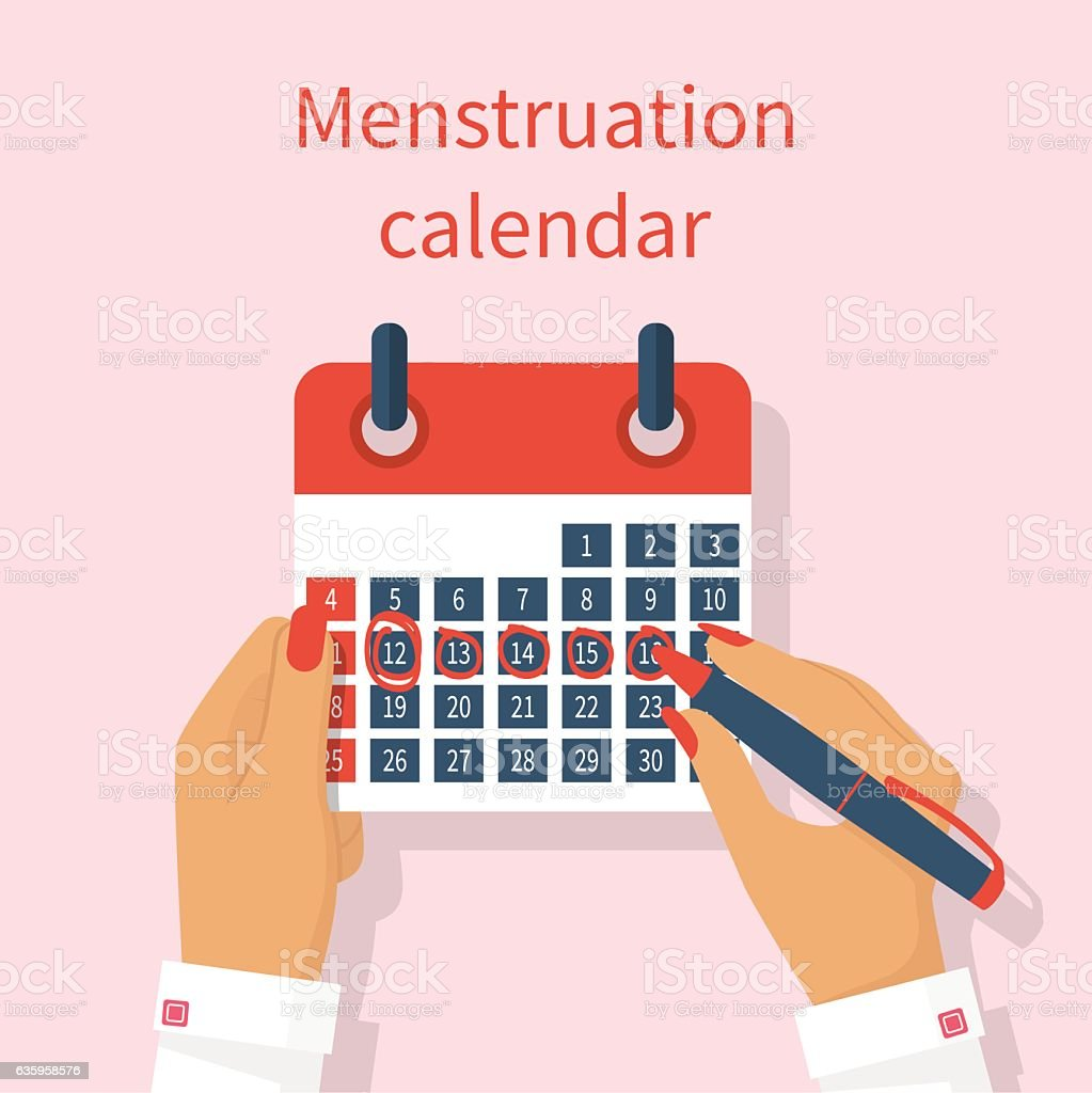 Period Calendar Clip Art, Vector Images & Illustrations - Istock
