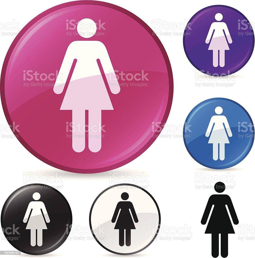 Woman Person Symbol vector art illustration