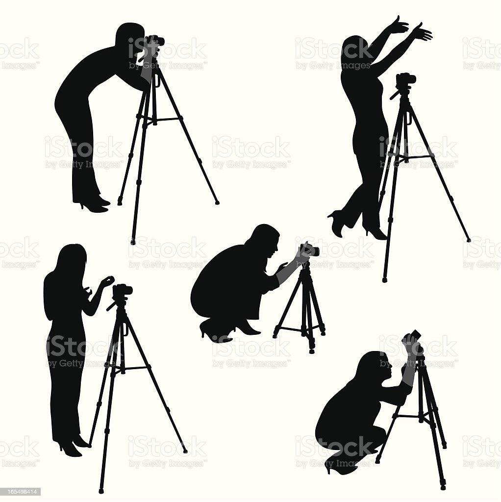 Woman Photographer Vector Silhouette royalty-free stock vector art