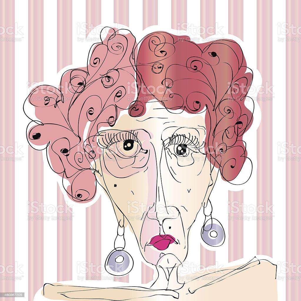 woman portrait royalty-free stock vector art