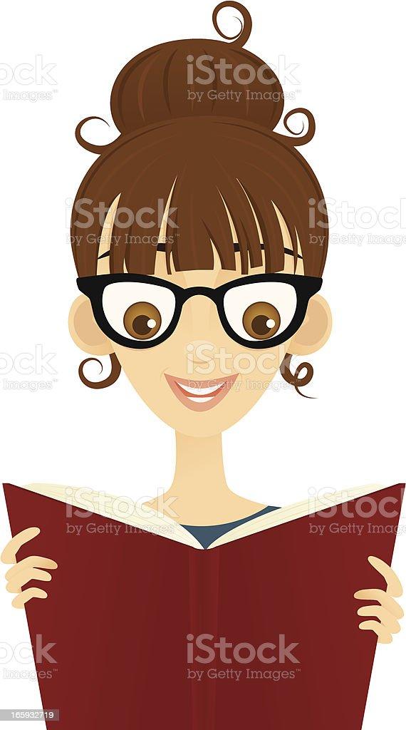 Woman Reading a Book royalty-free stock vector art